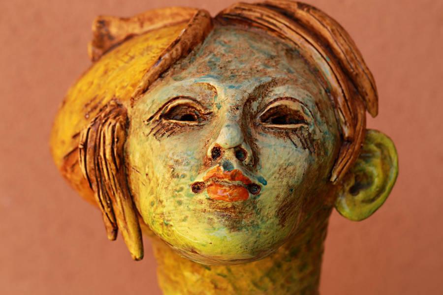 ceramica volto donna gaspare patti